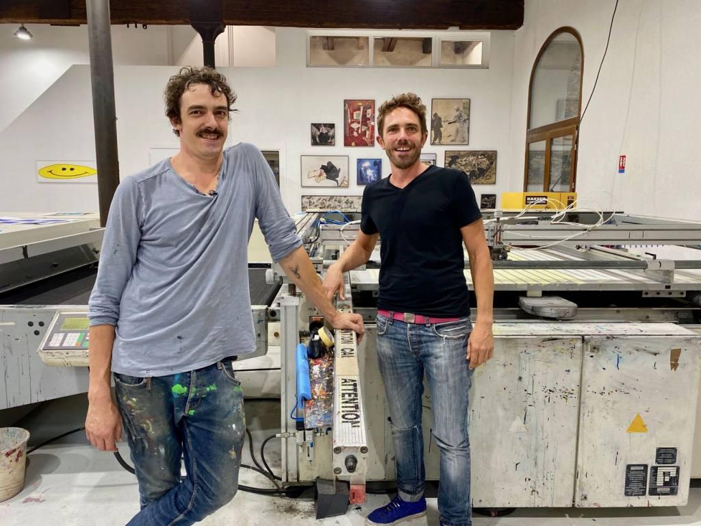 Tchikebe, atelier de sérigraphie à Marseille (Olivier et Ludwig)