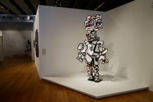Un Barbare en Europe exposition de Jean Dubuffet au Mucem statue