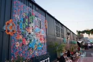Le Baou, club de plein air à Marseille fresque