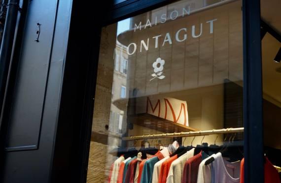 Maison Montagut, prêt à porter de maille fine à Marseille vitrine