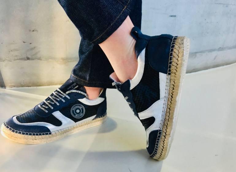 Collaboration Pataugas x Mucem Chaussures modèle femme