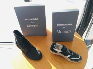 Collaboration Pataugas x Mucem Chaussures modèles femme et homme