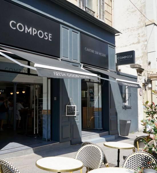 Compose, bar à salades à Marseille (terrasse)