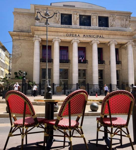 Marrou Opéra, pâtisserie, traiteur et salon de thé à Marseille (terrasse)