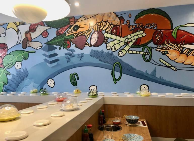 Shabu Shabu, restaurant japonais à Marseille (fresque)