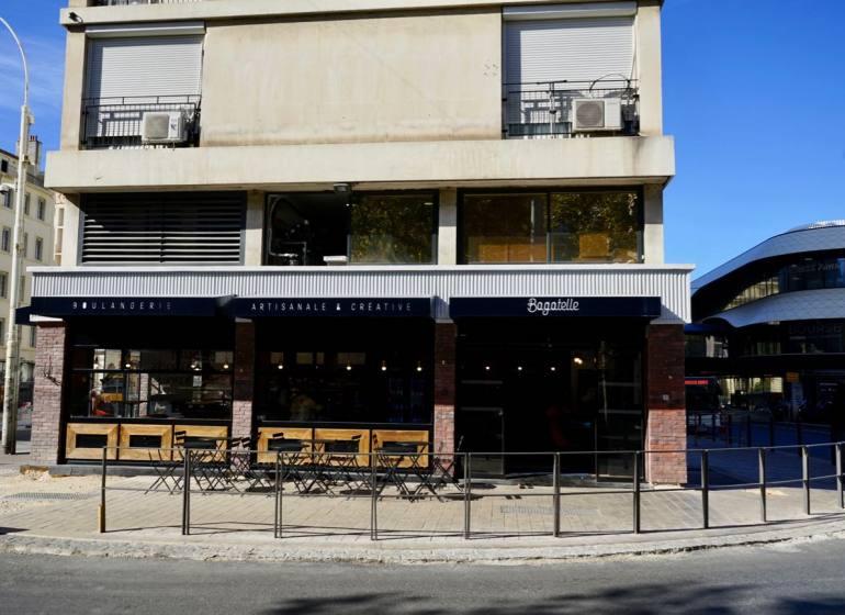 Bagatelle, boulangerie artisanale et créative à Marseille (extérieur)