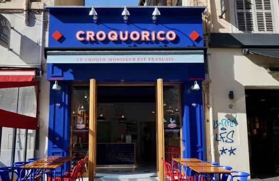 Croquorico, restaurant de croque-monsieur à Marseille (devanture)