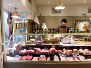 Boucherie Fontage, artisanal butcher (display)