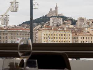 Une Table au Sud, gastronomic restaurant on the Vieux Port in Marseille (the view)