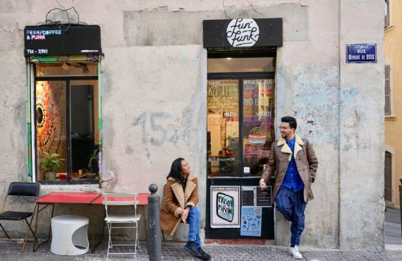 Fun Funk, coffee shop et cantine à Belsunce (Marseille)