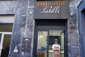 Coquillettes et Fusilli, artisanal pasta makers in Marseille (frontage)