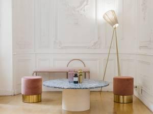 Rinku-Design, créateur de mobilier sur mesure à Marseille (table basse marbre)