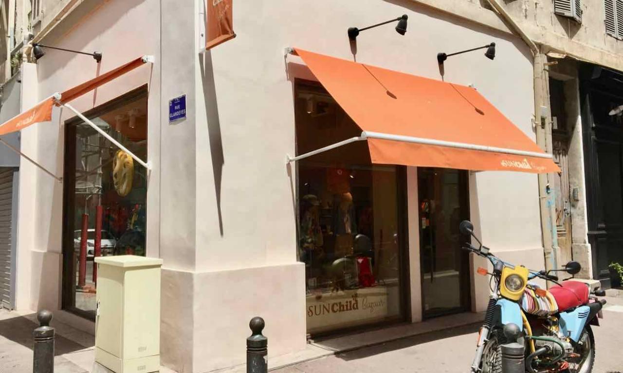 Sunchild bazaar, boutique de mode enfants à Marseille (devanture)