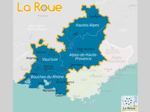 La Roue, monnaie alternative locale en Provence et Alpes du Sud (carte)