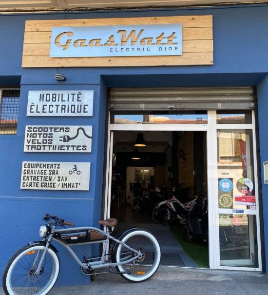 Gaaswatt, deux-roues électrique à Marseille (devanture)