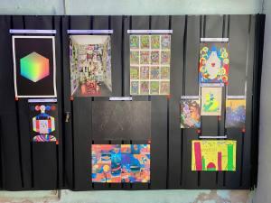 L'imprimerie, espace d'exposition dans l'imprimerie la Platine à Marseille (Illustrations d'artistes)