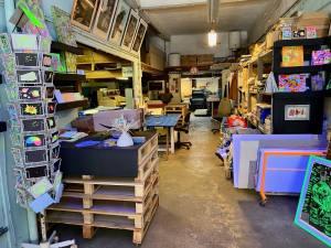 L'imprimerie, espace d'exposition dans l'imprimerie la Platine à Marseille (ateliers)