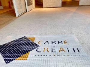 Carré créatif, showroom de vente de carrelages et élément de décoration à Marseille (entrée)