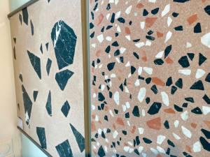 Carré créatif, showroom de vente de carrelages et élément de décoration à Marseille (terrazzo)