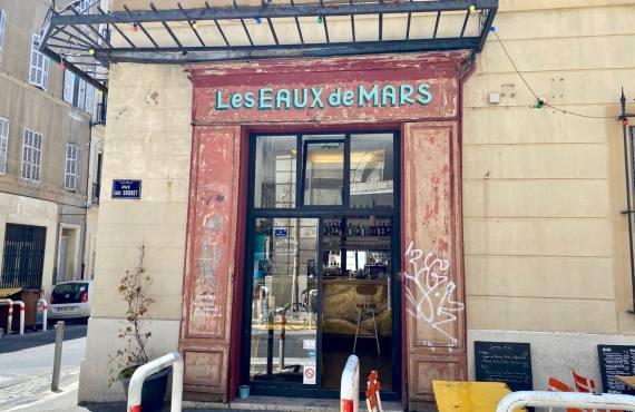 Les Eaux de Mars, cuisine bistrot dans le quartier Longchamp à Marseille (Façade)