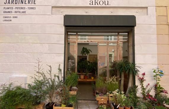 Akou, Jardinerie (Plantes, graines, terres, pots, outillage) à Marseille (devanture)