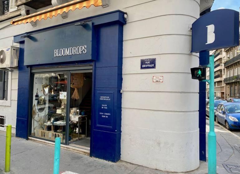 Bloomdrops, salon de thé et boutique d'objets et article de deco eco-responsable à Marseille (devanture)
