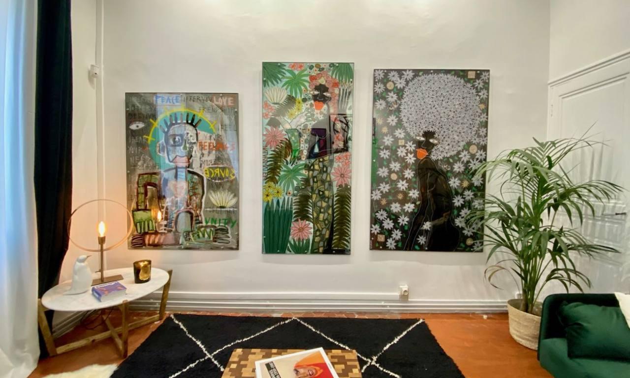 Galerie d'art contemporain en appartement à Marseille (Sylvia Calmejane)