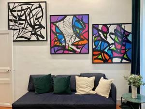 Galerie d'art contemporain en appartement à Marseille (ODN)
