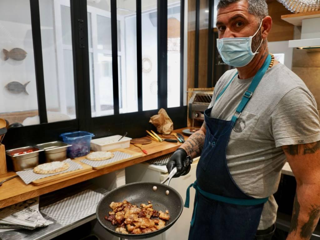 Gyros, sandwich pita grec à Marseille (viandes)