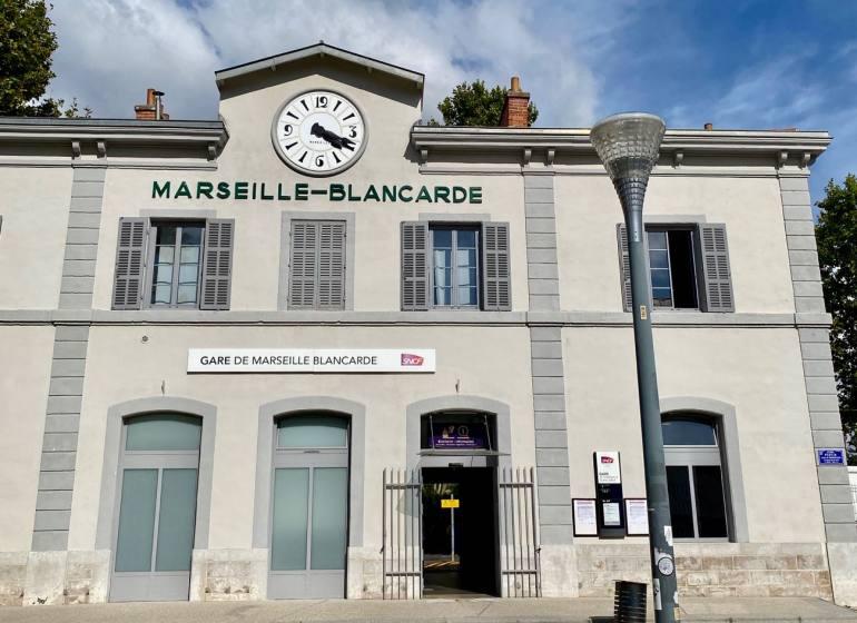 Les Ateliers Blancarde, Artothèque, bibliothèque, bricothèque dans la gare de la Blancarde à Marseille (Extérieur)