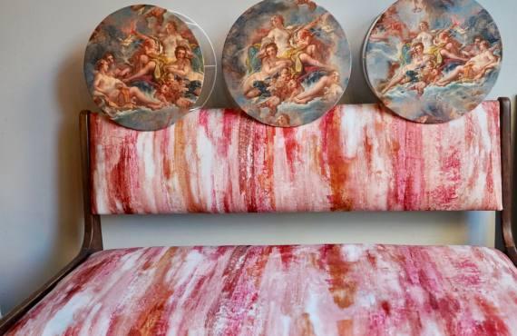 Les Sièges de Marie, tapisserie et décoraration à Marseille (banquette et abats-jour-