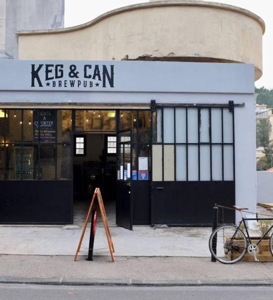 Keg & Can: micro-brasserie et bar à bières artisanales à Marseille (devanture)