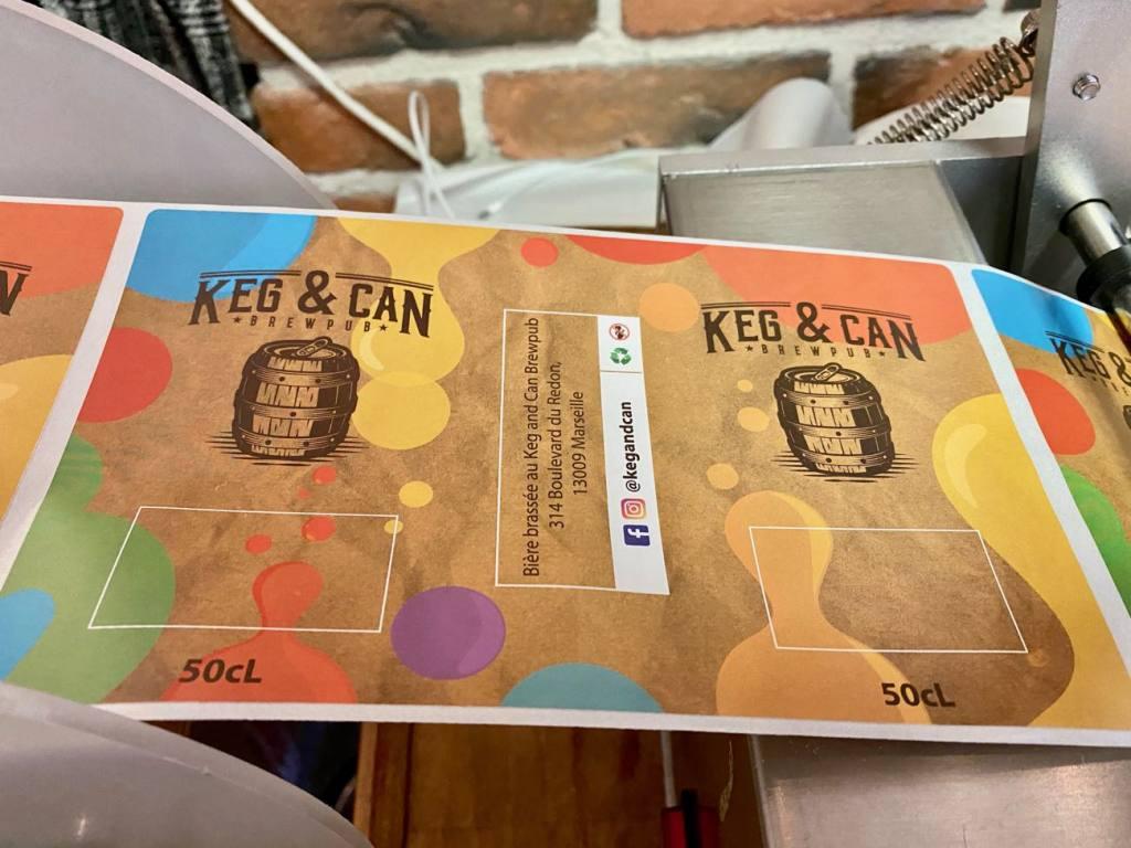 Keg & Can: micro-brasserie et bar à bières artisanales à Marseille (étiquettes)
