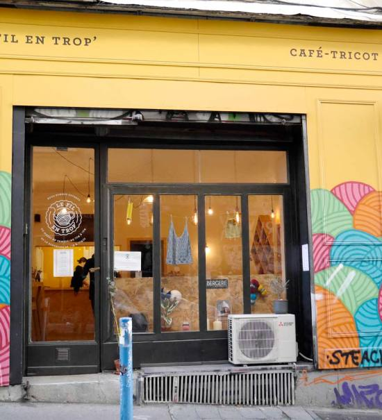 Le Fil en Trop, café tricot à Marseille (devanture)