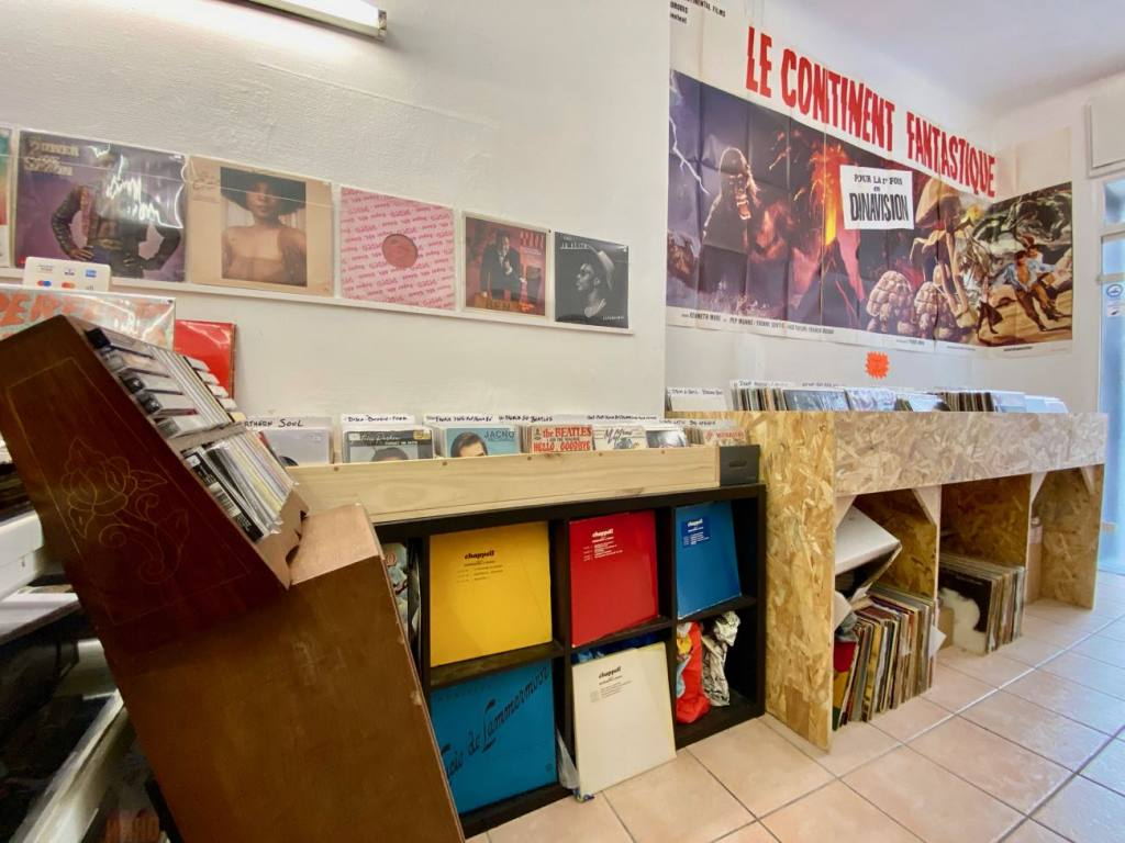 Bonne Mère Records, independent record store in Marseille (interior)