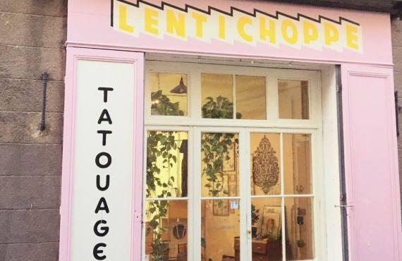 Lentichoppe, Salon de tatouages à Marseille (devanture)