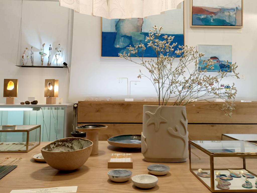 Atelier Céladon, artisanat à Marseille : vue de la boutique