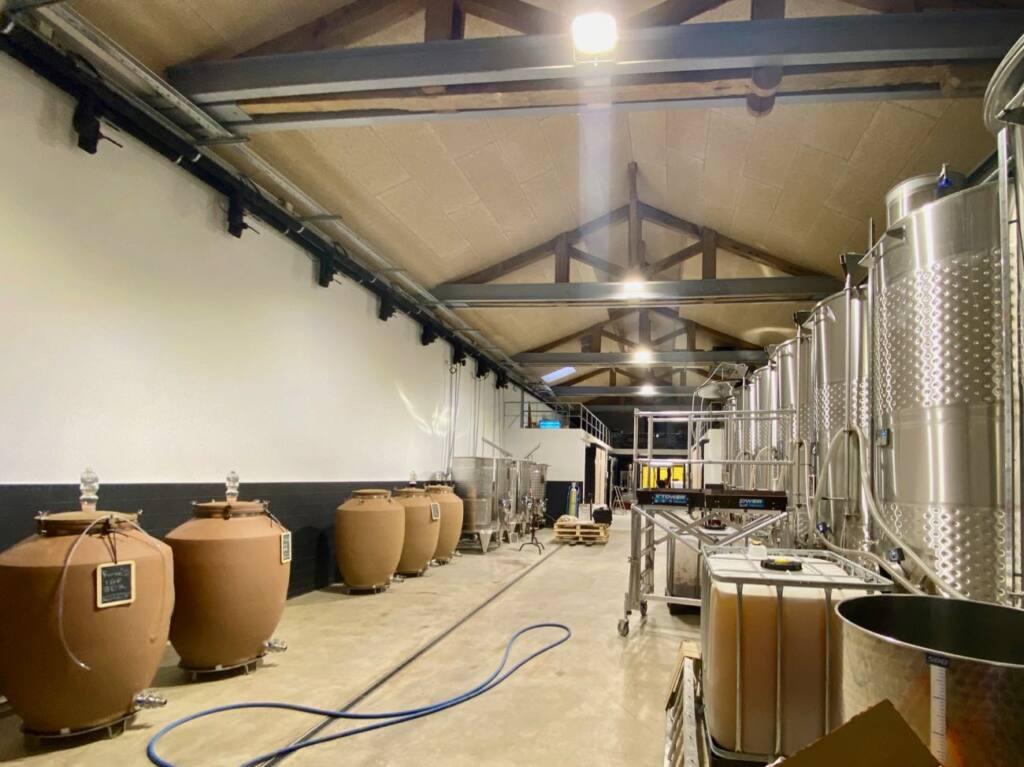 L'Abri, wine and food cellar in Marseille (barrels)