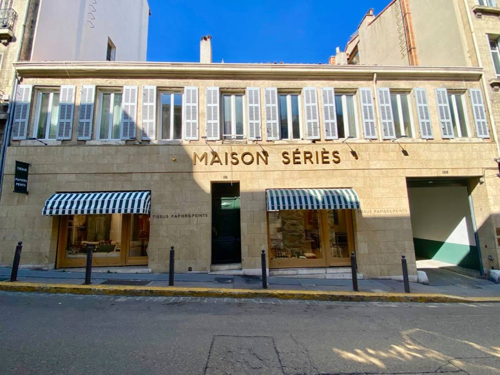 Maison Series, fabrics and wallpapers in Marseille, city guide Love Spots (frontage)
