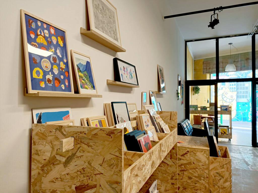 Oh ! Mirettes, boutique d'art à Marseille : intérieur