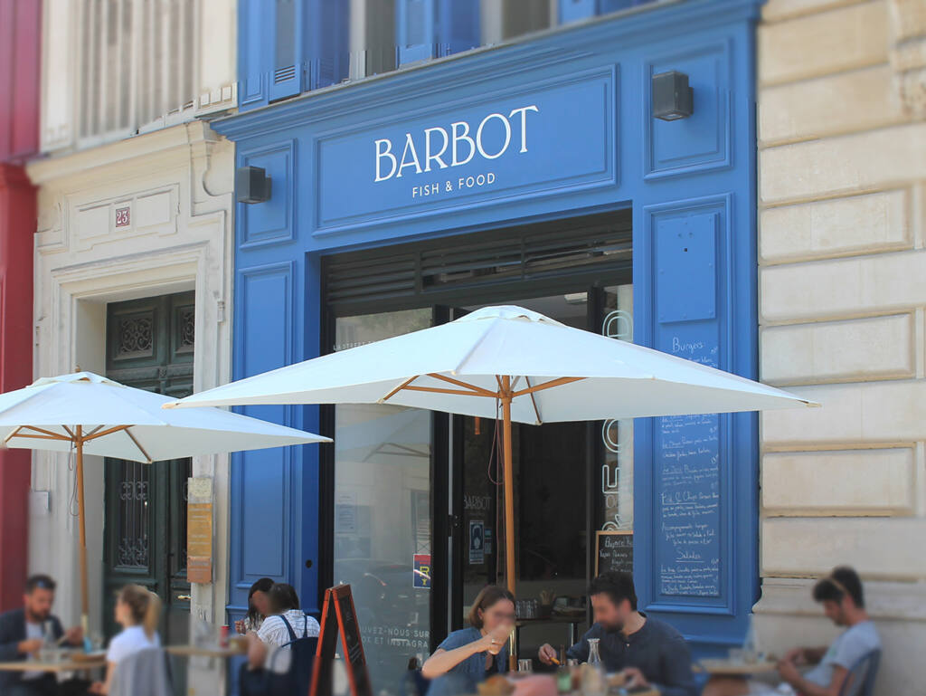 Barbot, Burger de poisson, Marseille (terrasse)