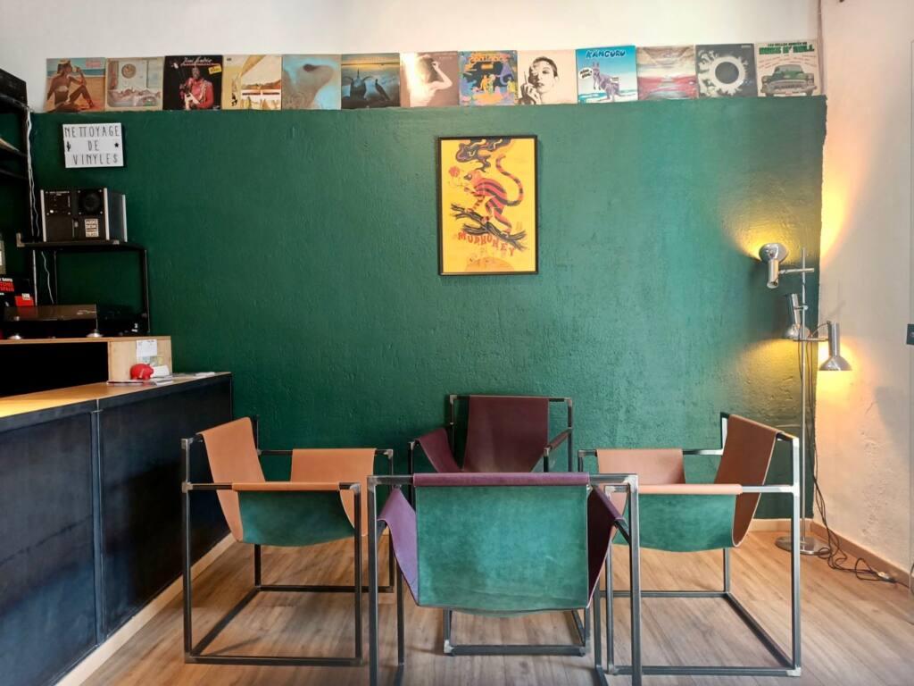 Le Fuzz, café et disquaire à Marseille : intérieur