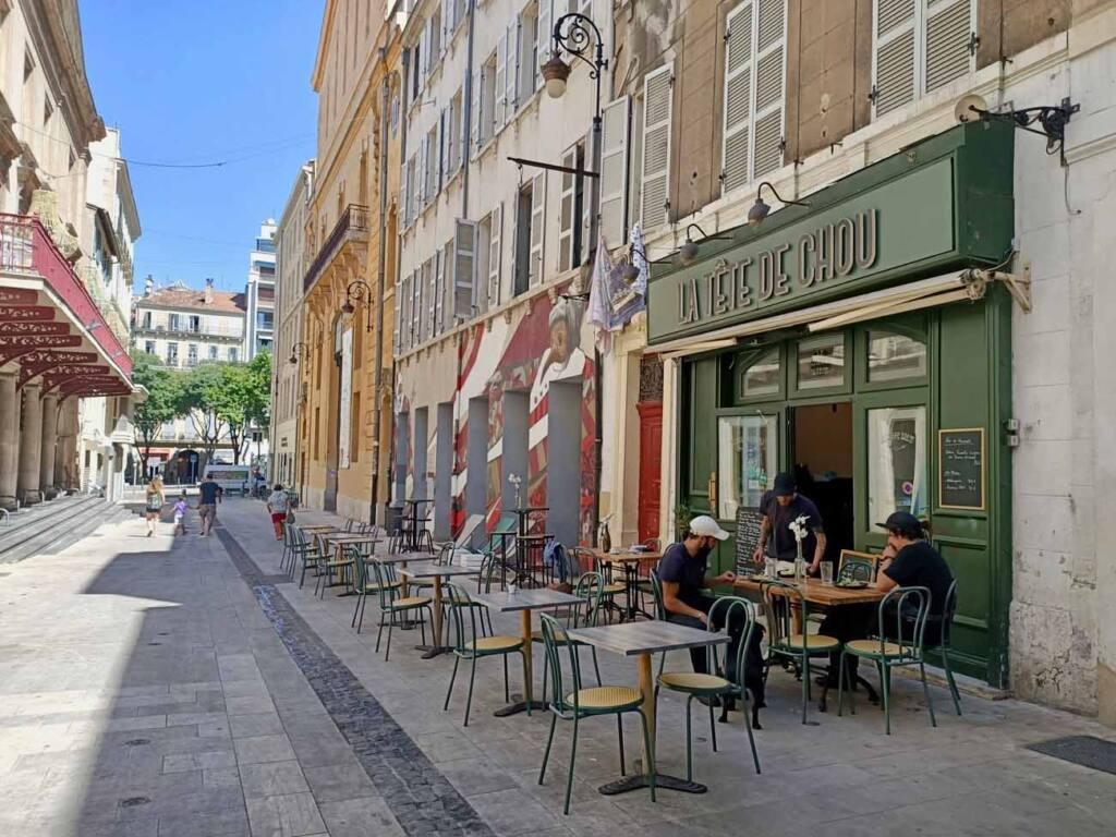Tête de Chou, Tapas restaurant in Marseille : terrace