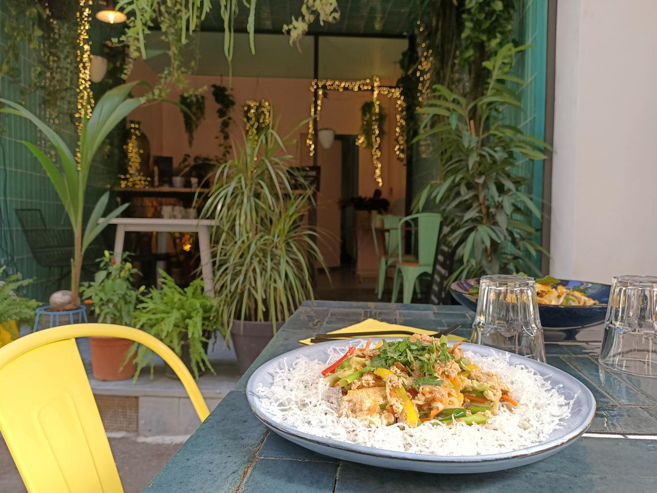 Gingembre, restaurant vietnamien à Marseille : terrasse
