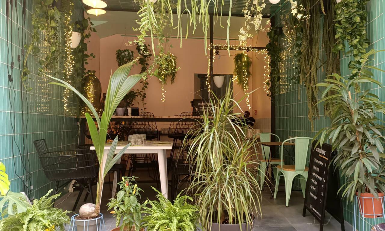 Gingembre, restaurant vietnamien à Marseille : terrasse et plantes